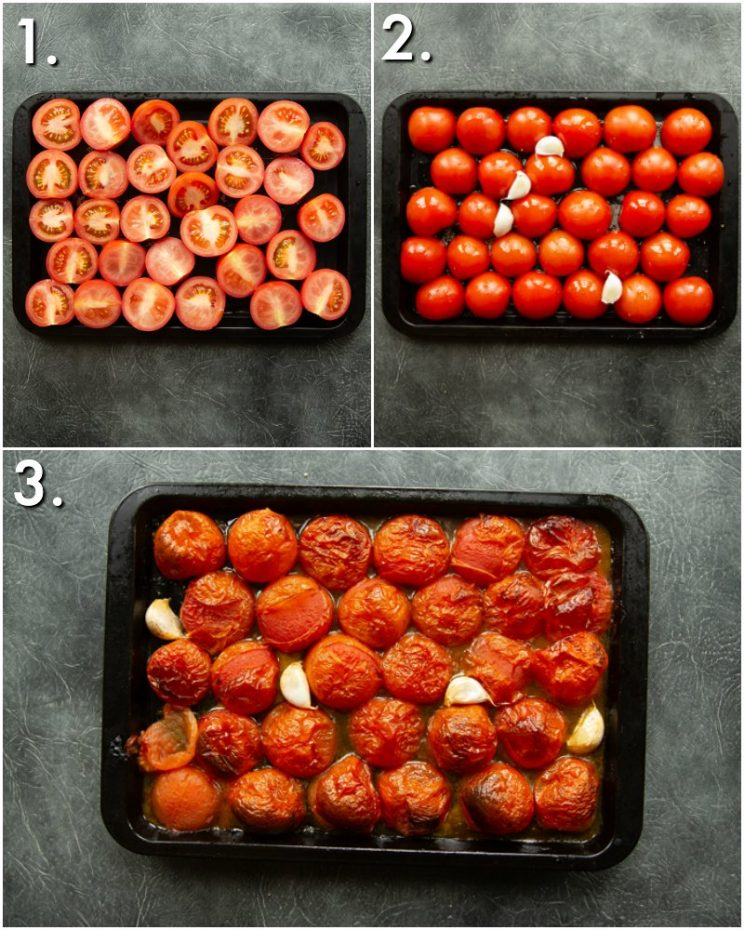 How to roast Tomatoes - 3 step by step photos