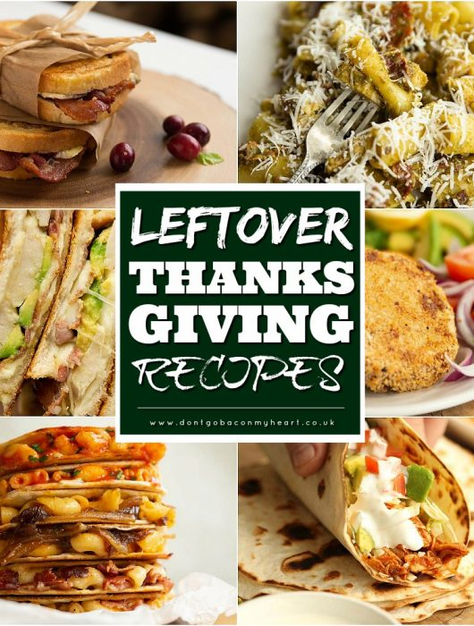 collage of Leftover Thanksgiving Recipes with text overlay