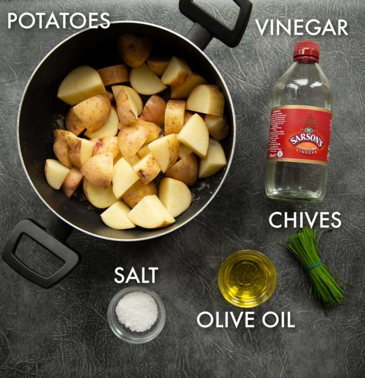 salt and vinegar potatoes ingredients with labelled text